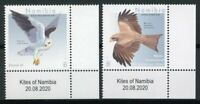 Namibia Birds on Stamps 2020 MNH Kites Yellow-Billed Kite Birds of Prey 2v Set A