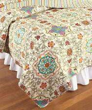 New Esprit Exotic Boho Bohemian Moroccan Paisley Bed Quilt  King