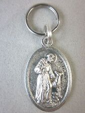 St Francis with Wolf Bless and Protect My Pet Medal Italy Cats Small Dogs