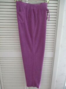 N.NATORI LOUNGE TERRY LONG PANTS 24/7 AMETIST X-LARGE NEW