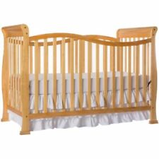 Dream On Me 7-in-1 Convertible Crib Baby Nursery Furniture Natural Finish NEW
