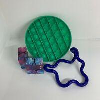 Sensory Pack of 3 - Tangle Jr Classic, Pop It Push Bubble & Starry Infinity Cube