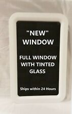 White Trailer Camper Motorhome RV Entry Entrance Door Window with Tinted Glass