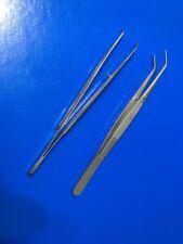 College Pinzette gebogen 15 cm Dental Zahnarzt Zahn Naht Chirurgische Pinzette