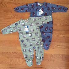 LIFE IS GOOD girl boy footed sleeper pajamas snoozie TRUCKS DAISIES 18m 24m NWT