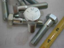 Hex Cap Bolts 1/2-13 x 2 Grade 5 Steel Zinc Plated Lot of 3 #2512A