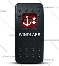 Labeled Contura II Rocker Switch Cover ONLY, Windlass-(Red Window)