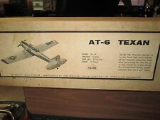 "AT-6 Texan Balsa Wood Model Airplane Kit 53"" Wingspan Collins Ind Aero Precision"