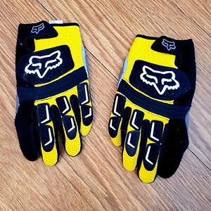 Fox Motorcycle Road Racing Gloves USED, Size 10 (Large)