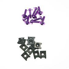 Purple 6mm Fairing Body Work Bolt Kit Screw Spire Speed Fastener Clip Nut Custom