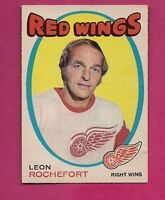 1971-72 OPC # 135 RED WINGS LEON ROCHEFORD  EX-MT CARD  (INV#1867)