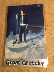 "HTF RareOriginal 1981 Wayne Gretzky Nike Poster ""THE GREAT GRETZKY"" 22 X 36"