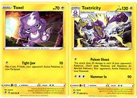 Rebel Clash - Pokemon Evolution Card Set - Toxtricity & Toxel 069/192 - Rare Lot