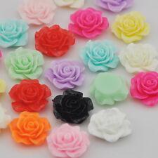 20/100pcs Resin Rose Flower Flatback Buttons DIY Scrapbooking Appliques