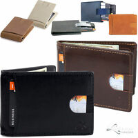 Mens Wallet Bifold Leather RFID Blocking Slim Wallets with Money Clip