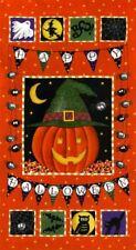 HALLOWEEN FABRIC PANEL pumpkin Party by Deb Strain for MODA btp NEW