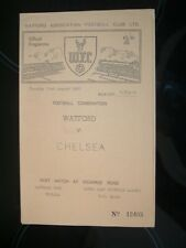 WATFORD ( RESERVES ) V CHELSEA ( RESERVES ) FOOTBALL COMBINATION 1962/63 - RARE