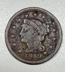 1849 Braided Hair 1C Large Cent