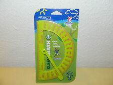 NEW  GREEN WITH RED  WESTCOTT KLEEN EARTH PLASTIC PROTRACTOR RULER MICROBAN