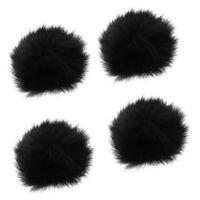 Pack 4 Fur Microphone Windscreen Windshield Muff Reduce Wind Noise Mic Cover