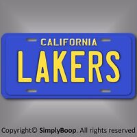 Los Angeles LAKERS California NBA Basketball Team Aluminum License Plate Tag