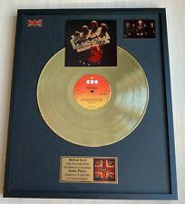 Judas Priest British Steel 1980 Vinyl Gold Metallized Record Mounted In Frame