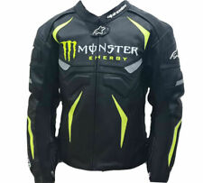 New Customized Monster Energy Leather Motorbike Racing Jacket