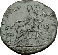 ANTONINUS PIUS 151AD Rome Sestertius Authentic Ancient Roman Coin ANNONA i64828