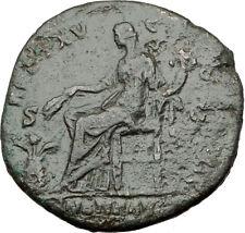 ANTONINUS PIUS 151AD Rome Sestertius Authentic Ancient Roman Coin ANNONA i64828