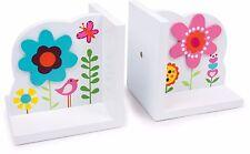 Buchstützen Blume Kinderzimmer stütze Holz Kinderbücher Kinder Buch Buchstütze