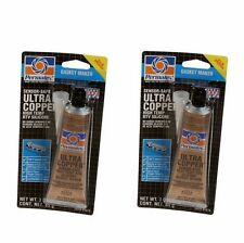 2x PERMATEX Ultra Copper Sensor Safe High-Temp RTV Silicone Gasket Maker 3oz