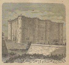 A3684 La Bastiglia di Parigi - Incisione - Stampa Antica del 1887
