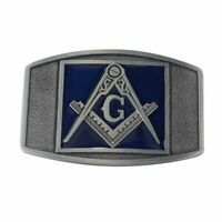Men's Alloy Freemason Masonic Leather Belt Buckle Western Vintage Design Metal