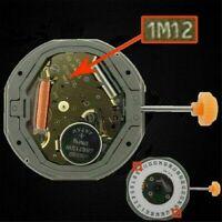 Für MIYOTA 1M12 LTD QUARTZ Uhrwerk Datum bei 3'/6' Ersetzen 6M12 w/ Stem Battery