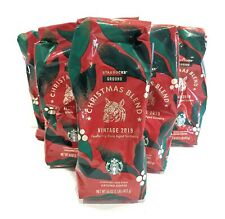 6 Bags Starbucks Ground Coffee CHRISTMAS BLEND Vintage 2019 1 lb NEW