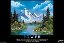 BOB ROSS - POWER - INSPIRATIONAL ART POSTER 24x36 - 3112