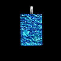 Blue Dichroic Glass Handmade Jewellery Pendant