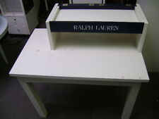 RALPH LAUREN WHITE RETAIL DOUBLE TIER  MERCHANDISE DISPLAY TABLE