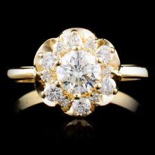 CERTIFIED $6227 14K Gold 0.84ctw Diamond Ring