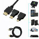 1080P HDMI Port to Mini/Micro Cable Adapter Converter For PC Laptop TV CellPhone