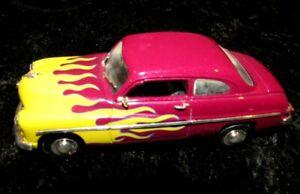 Vintage 1949  MERCURY COUPE 1/32 CAR  DIECAST CAR BY TESTORS PURPLE W/FLAMES