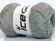 4 PELOTES DE LAINE ICE YARNS NATURAL COTON AIR (100% COTON) GRIS