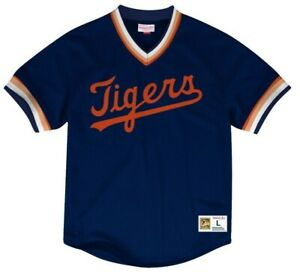 Mitchell & Ness Detroit Tigers Baseball Jersey New Mens Sizes MSRP $90