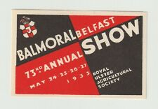 UK- Balmoral, Belfast Annual Show 1933 poster stamp MUH