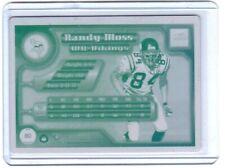 RANDY MOSS 1/1 2000 PACIFIC AURORA CARD PRINTING PLATE MINNESOTA VIKINGS 1 of 1