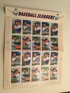 BASEBALL SLUGGERS STAMPS, sheet of 20