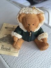 Harrods 2001 RESIN Bear Christmas Ornament New + Tag Limited Edition
