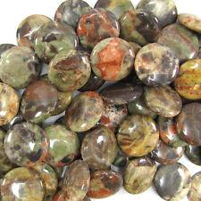"24mm natural Australian agate coin beads 15"" strand"