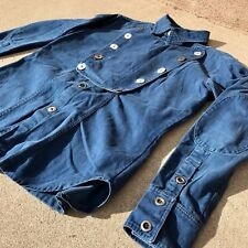 Cavalry Cowboy Indigo Western Shirt Jacket 100yr Old Button Heavyweight 42 Large