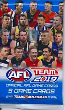 2019 afl teamcoach 5x single sealed packets-in stock